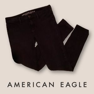 american eagle super stretch black jeggings